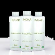 ArganPlex - Комплекс для бережного осветления волос с кератином, маслами арганы, макадамии, зародышей пшеницы, а также протеинами овса. В комплект входит аддитив, реконструктор, кондиционер.