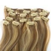 Искусственные волосы (пряди) на заколках. Прямые.